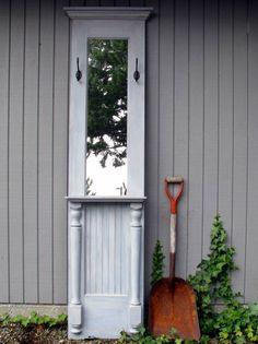 roof, cabin, idea, blue, photo displays, hous, hall trees, old doors, door projects