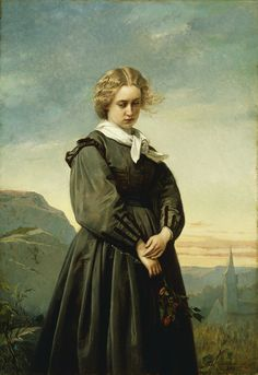 Loves Melancholy, 1866  Oil on canvas 51.4 x 35.6 cm (20 1/4 x 14 in.) Signed, lower right: Constant Mayer / 1866