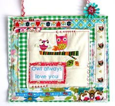 owl always love you -- fabric wall art