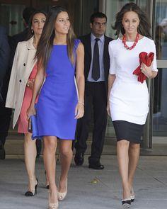 Ana Boyer, Isabel Preysler y Tamara Falcó en la Universidad de Comillas de Madrid