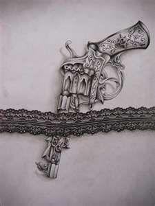 Garter pistol - Tattoo design