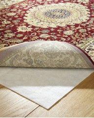Put non-slip material underneath your rug.