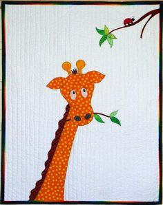 That Giraffe Baby Quilt pattern $12.00 on Craftsy at http://www.craftsy.com/pattern/quilting/home-decor/that-giraffe-quilt/66687