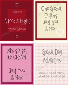 Kid's Valentine Coupons. So fun and easy to do!
