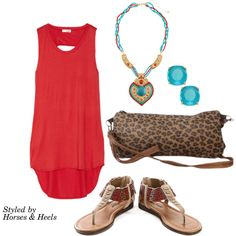 Red: Color of the Month on Horses & Heels