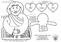 Free kid's activity sheet: Make a Jesus loves me mobile. Jesus hugs the child's photo or drawing of themselves. Confirming love message for children. #Christian #crafts #Jesus #God
