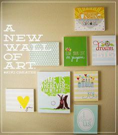 Make a wall of art!