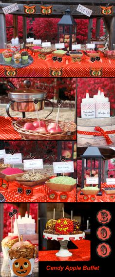 Caramel Apple Buffet. What a great idea for this retro treat!!!