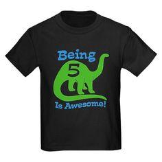 Birthday shirt for dinosaur themed party :)