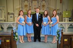 cornflower blue bridesmaid dresses wedding parties, cornflow blue, blue bridesmaid dresses