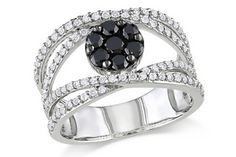 Fabulous black & white diamond ring.