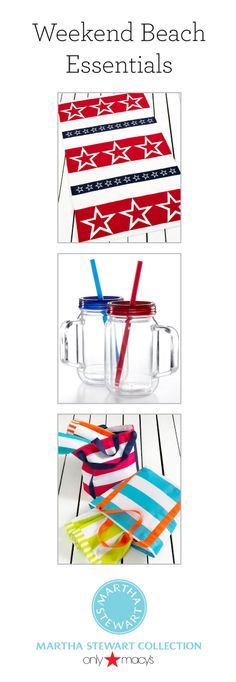 Heading to the beach this weekend? Pick up everything you need from the Martha Stewart Collection only at Macy's!