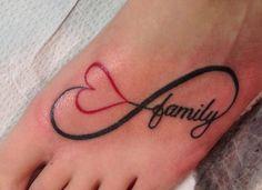 love infinity tatto | To love family for infinity tattoo | Tattoo Ideas