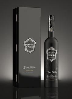 "Vodka ""White Gold"" Black Edition by Arthur Schreiber, via Behance.  Elegant IMPDO."