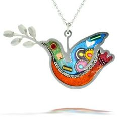 Turquoise Peace Dove Necklace