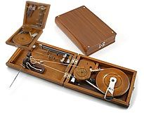 Book style Charkha Spinning Wheel from India.