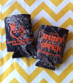 NIC WOULD LOVE THESE! Mossy Oak Camo Wedding Invitations | Mossy Oak Camo Wedding Koozies 200 qty. by RookDesignCo on Etsy