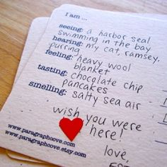 What a fun simple idea to make sending a quick piece of mail to your loved ones.  Have a stack of these postcards (or something similar) and fill them out.  Just a quick 'taste' of home. - MilitaryAvenue.com