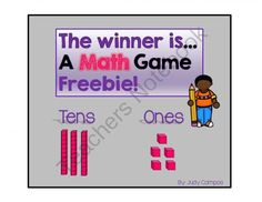 FREE The Winner is...A Place Value Game from Judy C's Shop on TeachersNotebook.com -  (9 pages)  - Place Value Guessing Game