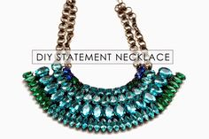 Bromeliad: My DIY Dannijo-inspired statement necklace - Fashion and home decor DIY and inspiration