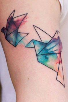Watercolor blue bird arm tattoo | Ears & Ink | Pinterest