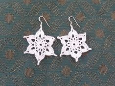 Yellow, Pink and Sparkly: Snowflake Earrings