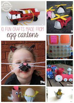 10 {More} Egg Carton Crafts