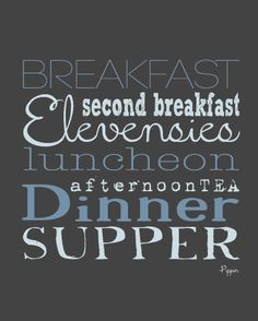 Want this for my imaginary kitchen    Second Breakfast Quote Art Print by ScribbleandScribe on Etsy, $12.00