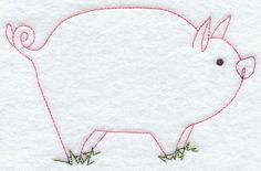 Country Pig (Redwork)