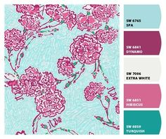 great for crafting ~ lilly print colors!