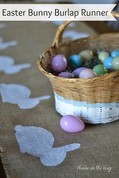 Easter Bunny Burlap Runner