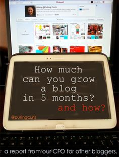 The growth I've had in my blog in 5 months.  In case you care.  And how I did it.
