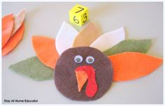 Give the Turkey Feathers Math Game