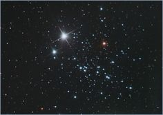 NGC 457 (also known as Skiing Cluster, Owl Cluster, ET Cluster). Open star cluster in Cassiopeia, discovered by William Herschel in 1787.  (Image credit: Henryk Kowalewski)
