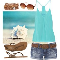 Beachy, created by qtpiekelso on Polyvore