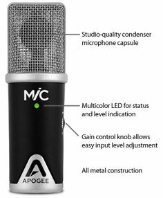 Mic by Apogee - The first studio-quality microphone for GarageBand on iPad, iPhone and Mac