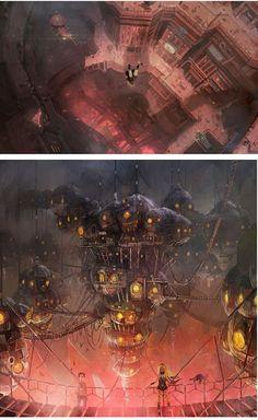 Sensacionais Concept Arts do game Gravity Rush | THECAB - The Concept Art Blog