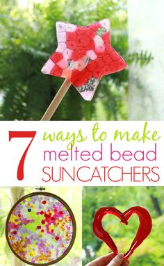 7 different melted bead suncatcher ideas in one place!