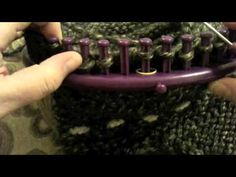 PART I Decrease Crown 48 Peg Round Purple Knifty Knitter #round #loom Small Gauge Adult from Kristen Mangus at GoodKnitKisses (Link to Part II will be on the right at YouTube).