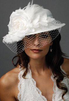 #white #wedding #hat article