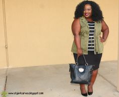 Utility Chic: Olive and Stripes
