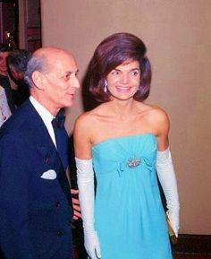 Jackie at the Metropolitan Opera in 1965, with Met General Manager Rudolf Bing.