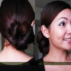 ... bun hairstyles, bride maids, hair tutorials, hair colors, hairstyle tutorials, big hair, side bun, bun tutori, sidebun hairstyl