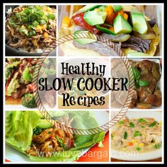 Healthy Slow Cooker Recipes!  Loads of clean eating recipes to have ready when you get home. LuvaBargain.com