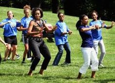 First Lady Michelle Obama on importance of fitness for women.