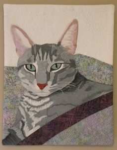 art quilt, cat quilt, quilt idea