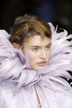 ZsaZsa Bellagio purple feathers