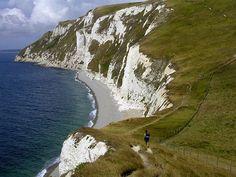 Bats Head to White Nothe:  Chalk Cliffs on the Dorset Coast, U.K.