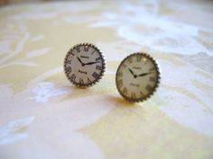 Sale Clock Watch Earrings Timeless Paris. $12.00, via Etsy. paris, girl fashion, clock watch, clock collect, kinda fashion, clocks, fun jewelri, earrings, clock earring