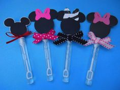 Minnie Mouse  and Mickey Mouse party favors, Minnie Mouse bubble wands set of 8 on Etsy, $8.58 CAD